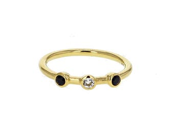 Topaz spinel ring