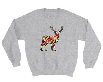 Maryland Flag Deer Sweatshirt