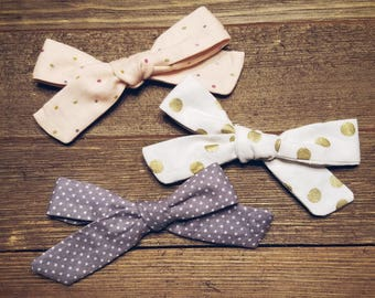 Lots of Dots | Handmade Cotton Baby Hair Bow Set of 3