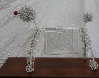 1950s Poodle Magazine Stand
