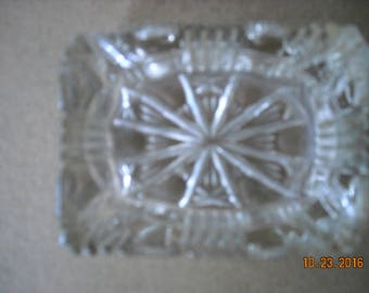 """Collectable Crystal   Personal  Ashtray  3 """" x 2"""" and a half"""