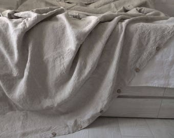Linen Duvet Cover natural  Flax bedding Linen duvet cover from pure soft stonewashed linen King Queen Full Twin
