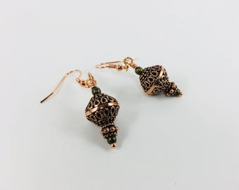Copper and Bronze earrings