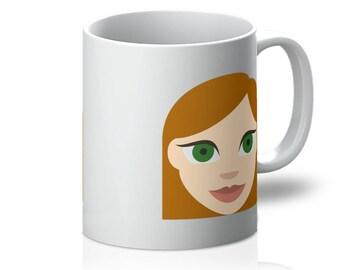 Redhead Emoji Mug