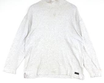 Mcm Sweatshirt silver colour Big Logo Embroidery Sweat Medium Size Jumper Pullover Jacket Sweater Shirt Vintage 90's