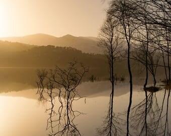 "Loch Beinn a'Mheadhoin, Glen Affric: 5"" x 7"" Greeting Card, Blank inside, with envelope"