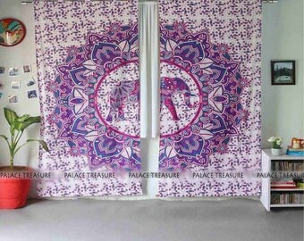 Mandala Curtains Boho - Dewi Elephant Large