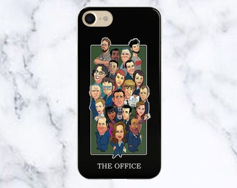 The Office Clear Phone Case TV Show iPhone Samsung S8 Case Galaxy S7 Edge Case Iphone 8 Case The Office Iphone 7 Case Iphone 6s Case Phone
