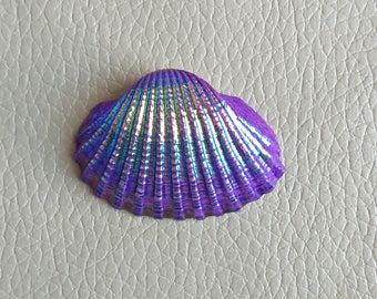 Beautiful Natural Titanium Shell Coated Freeform Healing Stone, Titanium Shell Cabochon, Titanium Shell Size 42x30x7 MM Approx. Color Shell