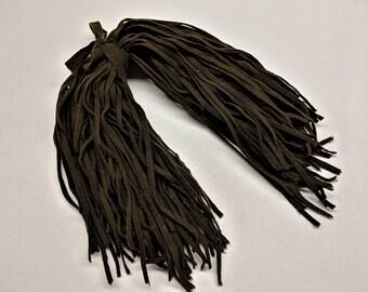 Cordovan Brown Vintage Wool Strips 100 Strips 18 Inches Long Rug Hooking supply Felted Wool Hand Cut #6 Blade