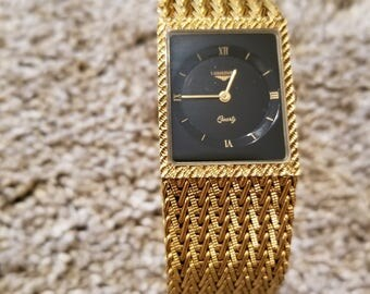 Vintage Longines Dress Watch, Quartz and Gold Plated.