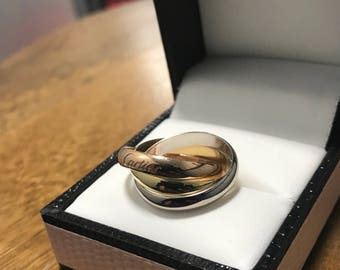 18CT Gold Cartier Trinity Ring
