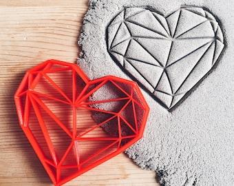 Geometric Heart Cookie Cutter