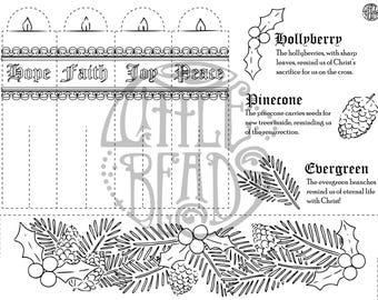 Advent Coloring Activity Cut Out