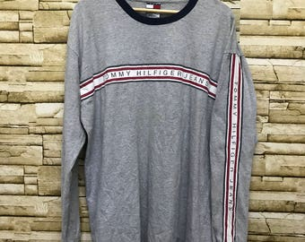 Vintage Tommy Hilfiger Made in USA Long Sleeve T Shirt