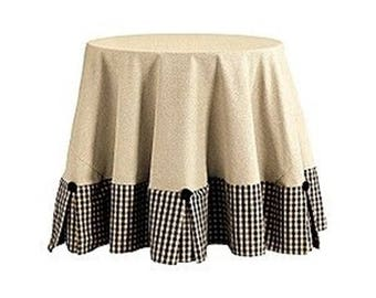 Designer  cotton Tablecloth,  table skirt