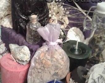 Spiritual Awarness Ritual Kit: Kyanite, Iolite, Candles, Herbal Sachet, Resin, Sage