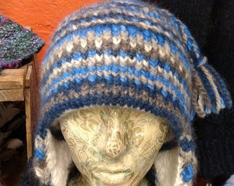 "Mohair and Alpaca Hat with Angora Rabbit lining ""Below Zero"" Hat"