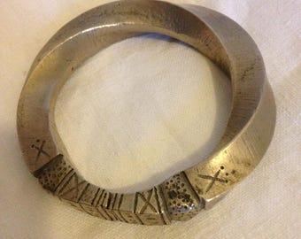 1800 Nigerian solid Silver bracelet