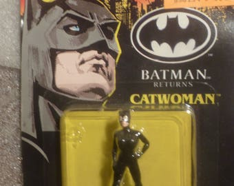 Batman Returns Catwoman figure. Black Die-Cast Metal. ERTL 1992