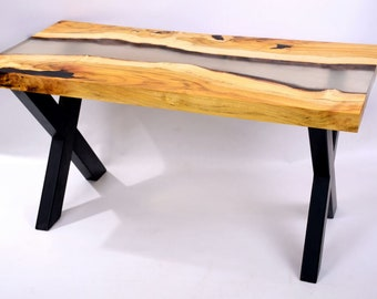 Table Coffee Wood And Resin Furniture Dinner Room Tea