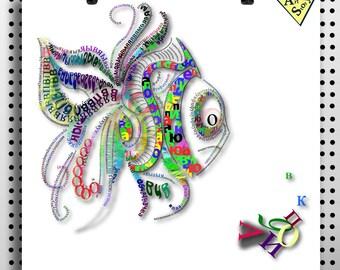 Printable poster Vector fish download vector Instant download fish art wall decor poster ready print wall art Digital image AI pdf svg jpg