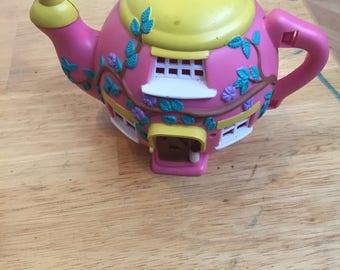 Rare! 1995 Vivid Imaginations Teeny Weeny Teapot House Hippity Hop Cafe COMPLETE