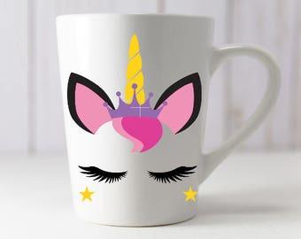 Princess unicorn mug
