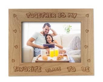engraved wood frame etsy - Engraved Photo Frame
