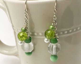 Dangle earrings and Drop Earrings, Boho earrings, Artisan Earrings, Boho Jewelry, Glass Beads, Handmade Jewelry, Handmade Earrings