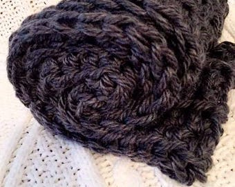 Charcoal infinity scarf