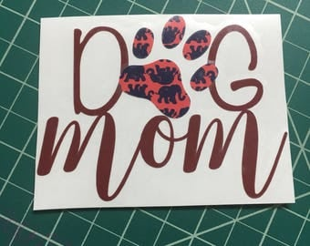 Dog mom decal, lily Pulitzer vinyl