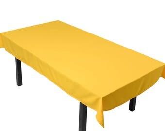 MEET yellow tablecloth