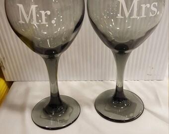 Mr. & Mrs. Wine glasses