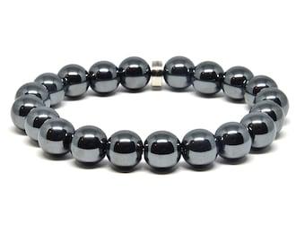 Genuine Hematite Stretch Bracelet