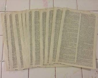 Vintage dictionary paper