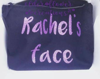 Personalised Westford Mill makeup cosmetic bag. A perfect gift