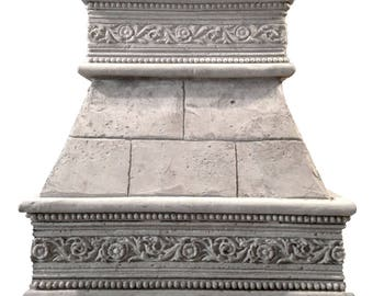 """Cast Stone Kitchen Vent Hood/Range Hood 30"""" w x 30"""" h (fits 8-foot ceiling) Kitchen Exhaust CAPPED FLORENCE"""