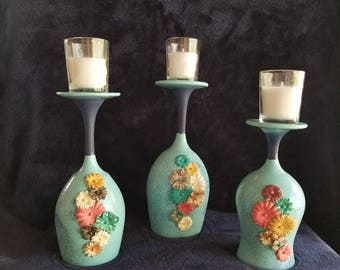 candle holders/ set of 3