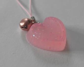Heart pink strap