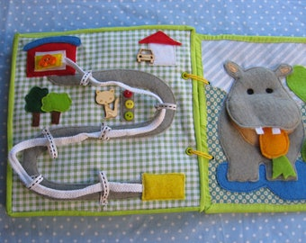 Quiet game,Road,, Felt  Animals Learning Toy,  Gift for Kid, game for ages 2-5