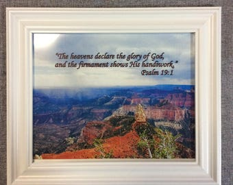 Grand Canyon Framed Color Photo with Bible Verse