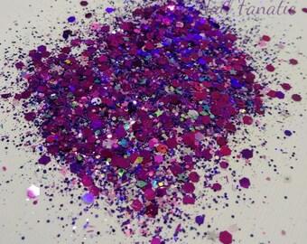 Purple Holographic Glitter Mix