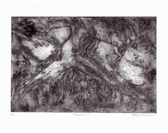 "8x11"" Intaglio Print ""FLURRY,"" 2017"