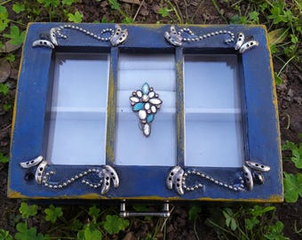 Wooden Jewelry Box - hand-painted/designed