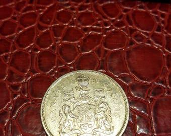 1966 Canada 50 cents silver Half Dollar -