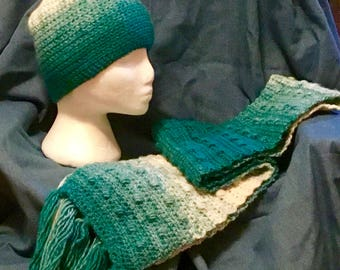 Winter Waves Hat and Scarf Set