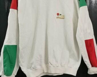 Rare !!! Vintage Dunlop 1980s Sweatshirt