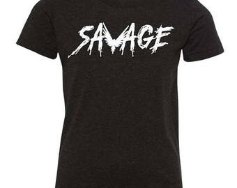 Logan Paul Savage Youth tshirt. 100% COTTON. Logan Paul  Merch