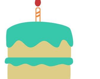 Birthday Layers Cut file, Cake cut file, Birthday cut file, birthday cake,